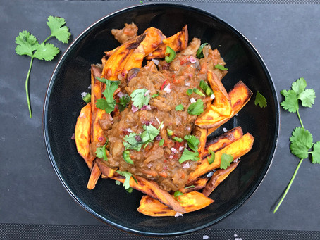 Our Easy Paddo Stew with Sweet Potato Fries