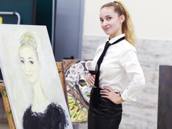 "Joint Art Project ""Portrait"" of Lera Litvinova Gallery and Jewish Center ""Halom"""