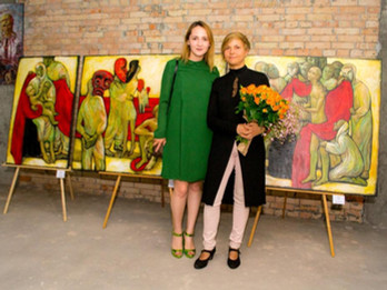 "The Grand Opening of the personal exhibition by Kata Rudakova ""The portrait of femininity"""