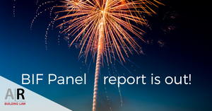BIF Panel report is out!