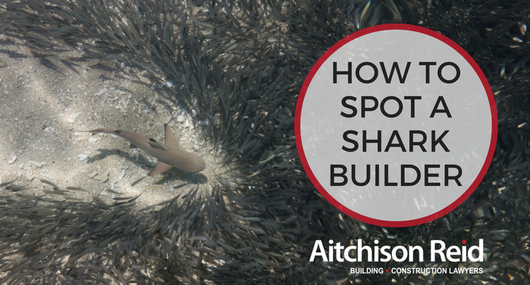 Homeowners - Picking a Builder? Our 3 top tips for avoiding the sharks - Call us on 07 3128 0120 or email us at homeowners@arbuildinglaw.com.au - www.homeowners.arbuildinglaw.com.au