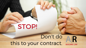 Want to terminate your home building contract?