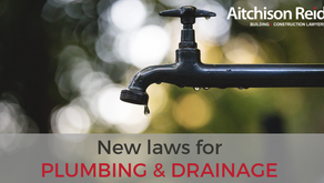 New Plumbing and Drainage Act
