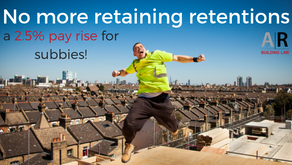 No more retaining retentions? A 2.5% pay rise for subbies