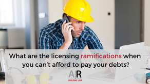 Can't pay your debts? Beware the licensing consequences