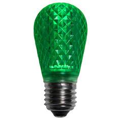 S14 Green LED Light BULB - Faceted