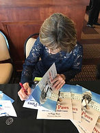 Peggy Race Signing Books