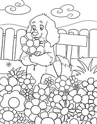 Freedom Garden Coloring Page