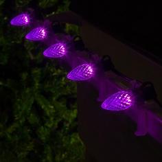 Purple C7 LED Faceted
