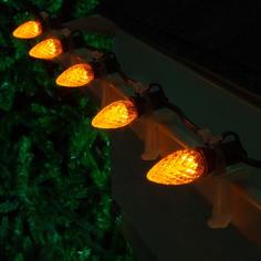 Gold C7 LED Faceted