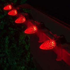 Red C7 LED Faceted