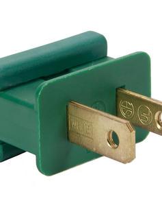 Green Male Zip Plug