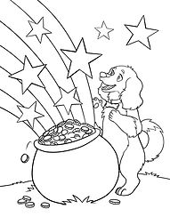 Deputy's Pot of Gold Coloring Page