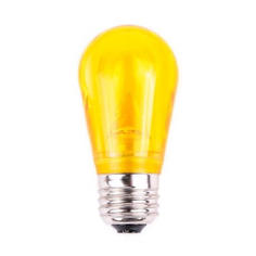 S14 Dimmable SMD LED Retrofit Bulb - Yellow - SMOOTH