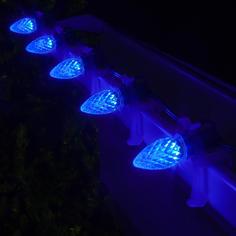 Blue C7 LED Faceted