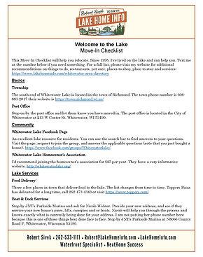 Move-In Checklist - Town of Richmond 202