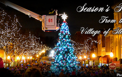 Village of Glen Ellyn at Christmas