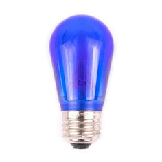 S14 Dimmable SMD LED Retrofit Bulb - Blue - SMOOTH