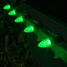 Green C7 LED Faceted