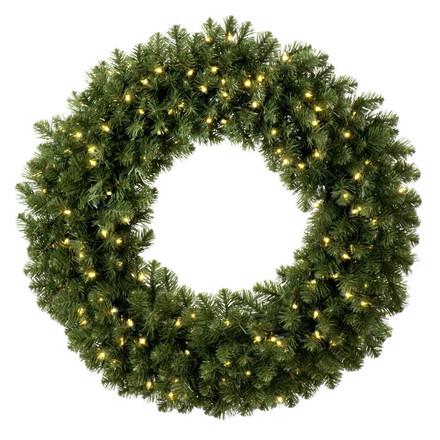 Sequoia Fir Lighted Wreath