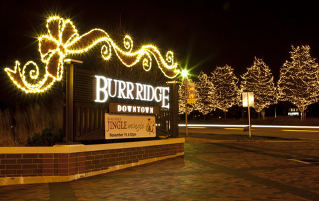 Burr Ridge Downtown at Christmas