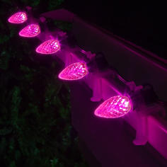 Pink C7 LED Faceted