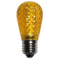 S14 Gold LED Light BULB - Faceted