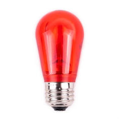 S14 Dimmable SMD LED Retrofit Bulb -Red - SMOOTH