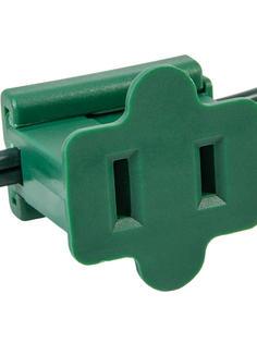 Green Female Inline Zip Plug