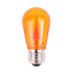 S14 Dimmable SMD LED Retrofit Bulb - Orange - SMOOTH