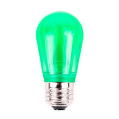 S14 Dimmable SMD LED Retrofit Bulb - Green - SMOOTH