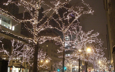 Downtown Chicago at Christmas