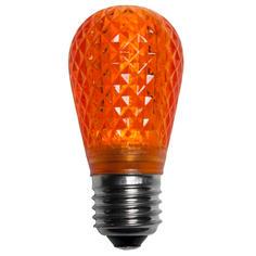 S14 Amber LED Light BULB - Faceted