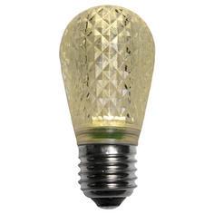 S14 Warm White LED Light BULB - Faceted