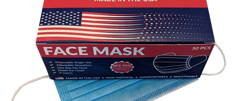 Made in the USA Disposable Face Masks (50PCS)