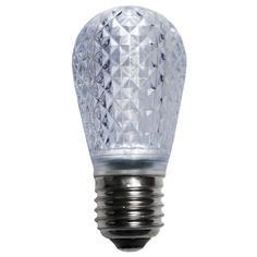 S14 Cool White LED Light BULB - Faceted