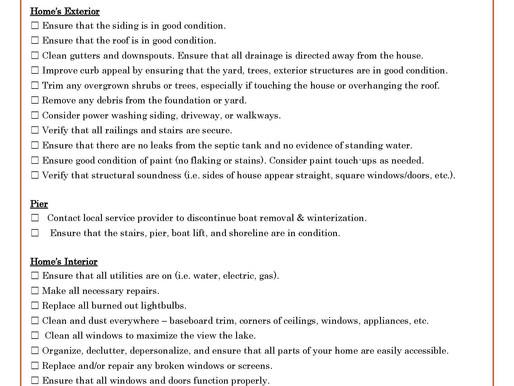 Home Seller Checklist