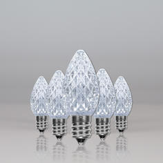 Cool White C7 LED Faceted
