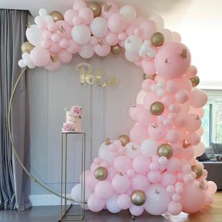 różowo złote dekoracje na baby shower