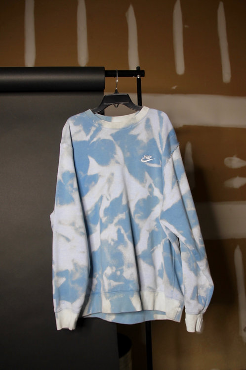 bleached nike crew neck