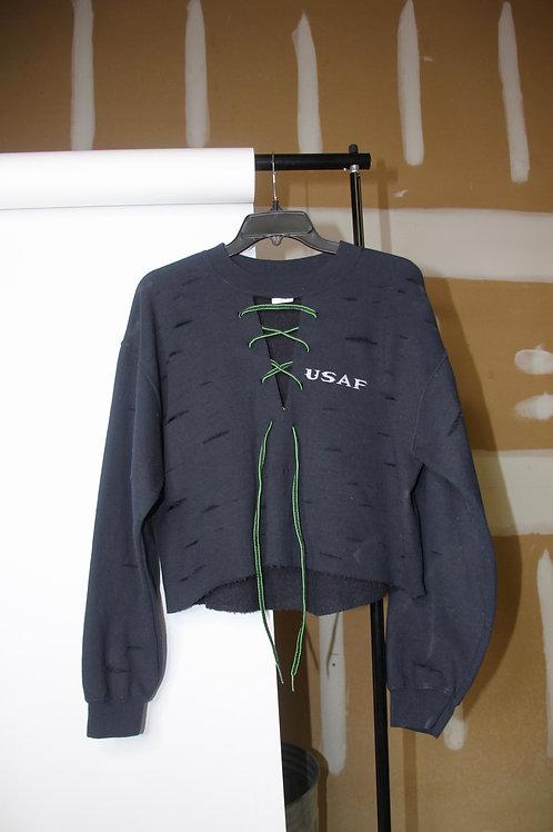 usaf distressed sweatshirt