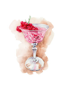Cocktail Illustration, Watercolour. food ilustrator, menu images, illustration, recipe book, art, watercolour, freelance illustrator, london, uk, anastasiya levashova, drink illustration, editorial illustration, watercolour artist, glass painting, watercolour illustrator uk, fruit watercolour, illustrator, illustration, cocktail, martini, cosmopolitan cocktail, freelance illustrator, illustration agency, watercolour illustration,