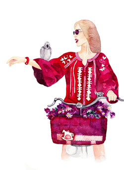 Watercolour Illustration, Fashion Ed