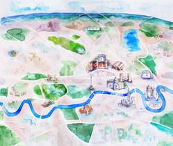 London Map, Illustration