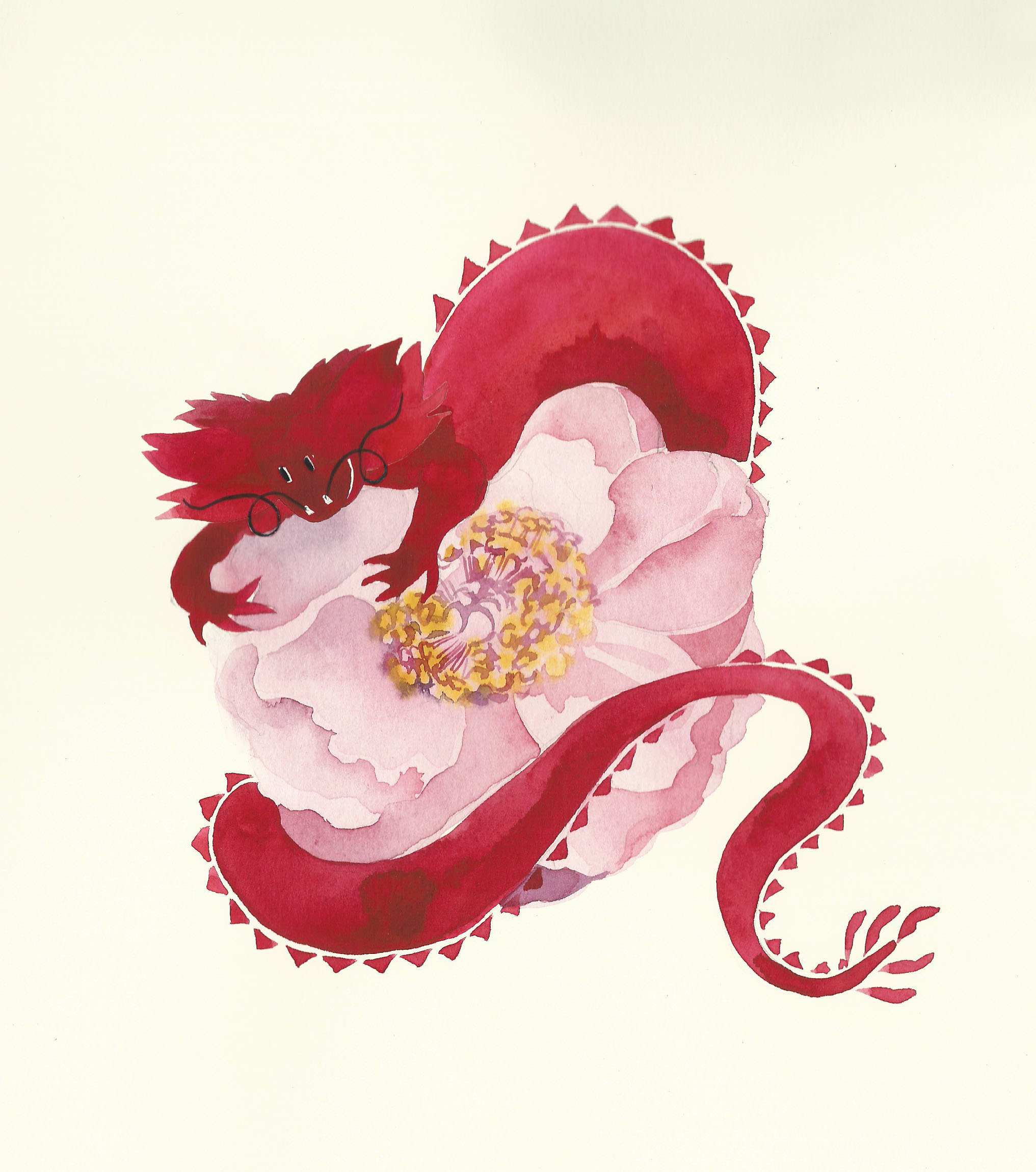 Watercolour Chinese New Year Card