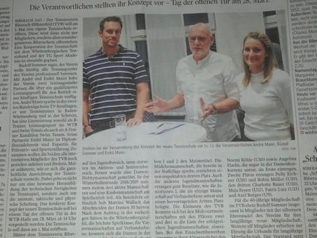 Bericht in der Schwäbischen Zeitung