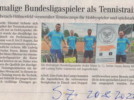 Schwäbische Zeitung:                      Bericht Sommer-Camps