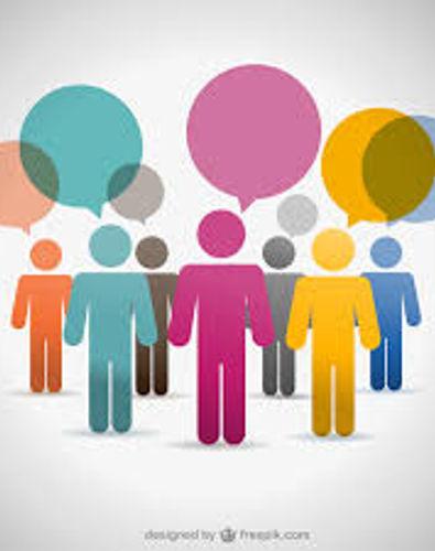 Stylised image of people thinking