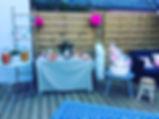 la terrasse du café poussette