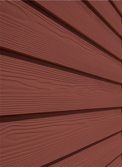 Cedral cladding in burnt red